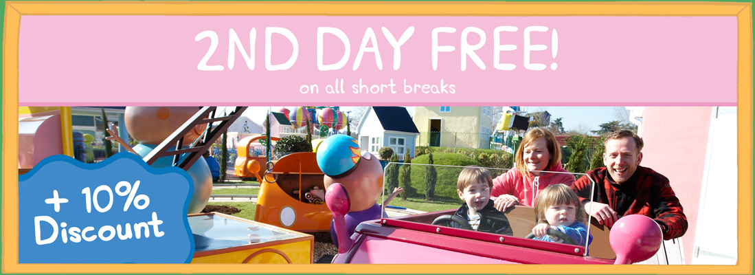 2nd Day FREE on all short breaks